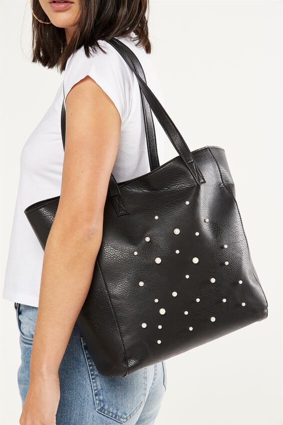 Premium Beach Tote Bag, BLACK PEARLS