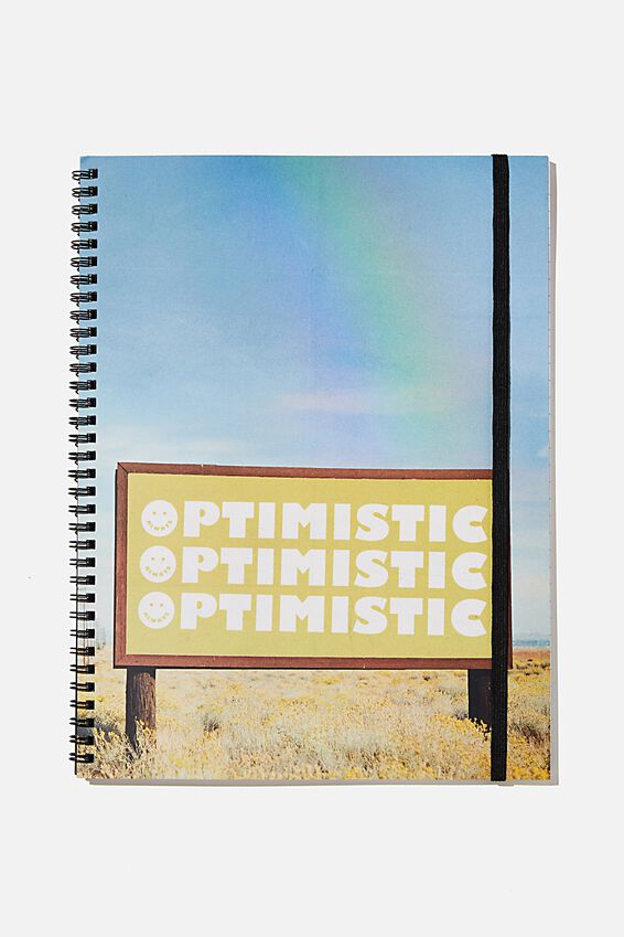 A4 Spinout Notebook Recycled, OPTIMISTIC RAINBOW