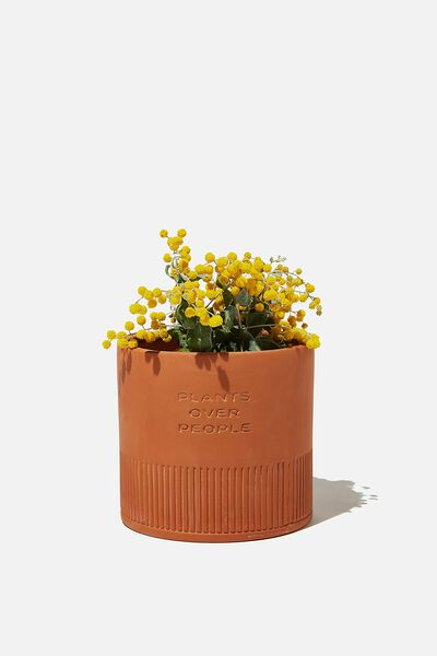 Midi Shaped Planter, TERRACOTTA PLANTS OVER PEOPLE