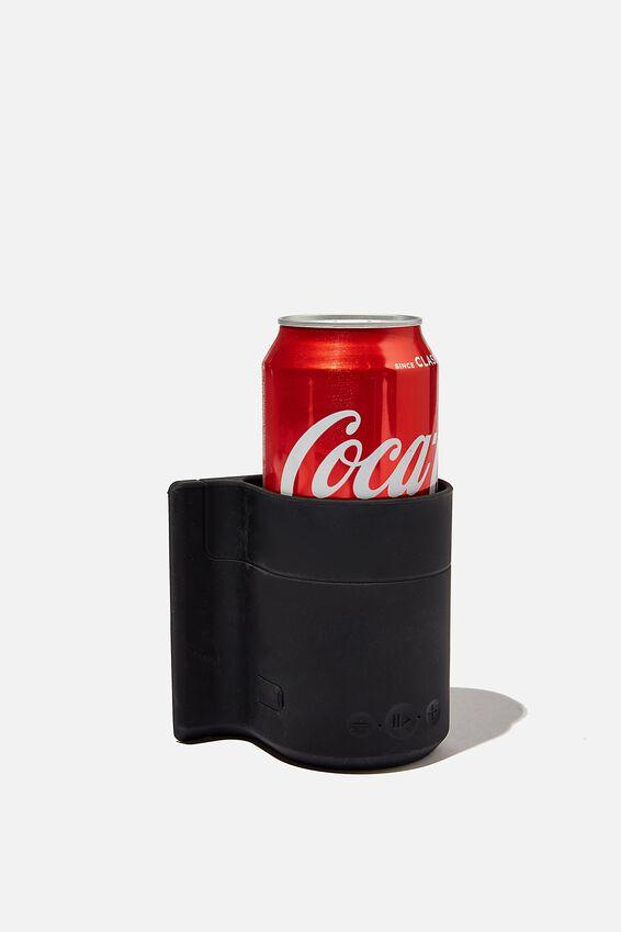 Beer Holder Shower Speaker, BLACK