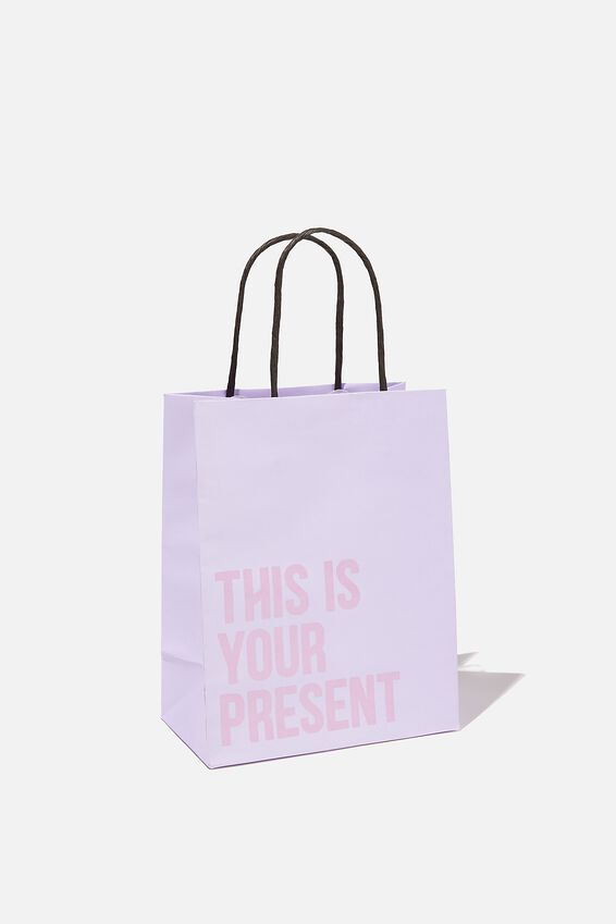 Get Stuffed Gift Bag - Small, LILAC DRIFTWOOD THIS IS YOUR PRESENT