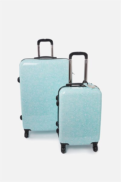 Suitcase Luggage Bundle, LIGHT BLUE LACE
