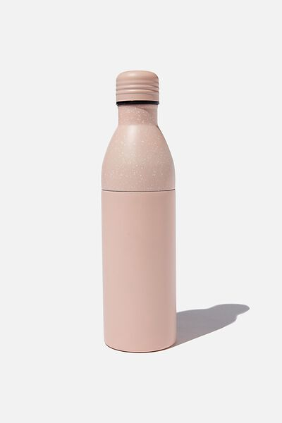 Two Piece Metal Drink Bottle, PINK MICROSPOT