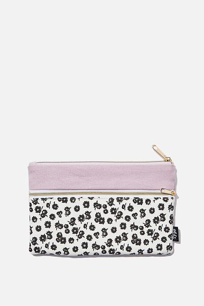Archer Pencil Case, BW DOLLY DAISY