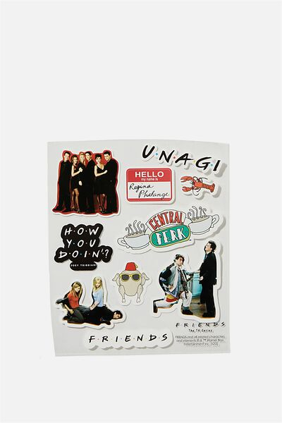 Licensed Sticker Pack, LCN WB FRI FRIENDS
