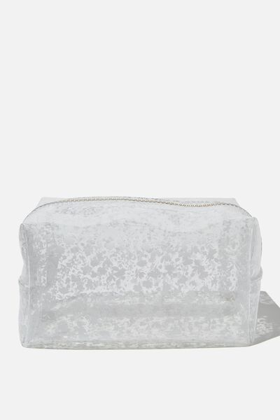 Made Up Cosmetic Bag, FLORAL W CLEAR