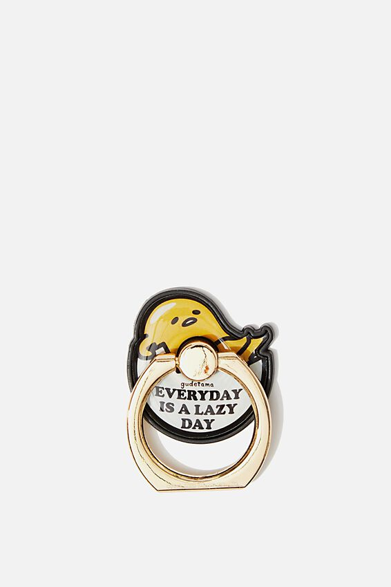 Gudetama Metal Phone Ring, LCN SAN GUDATAMA LAZY DAY