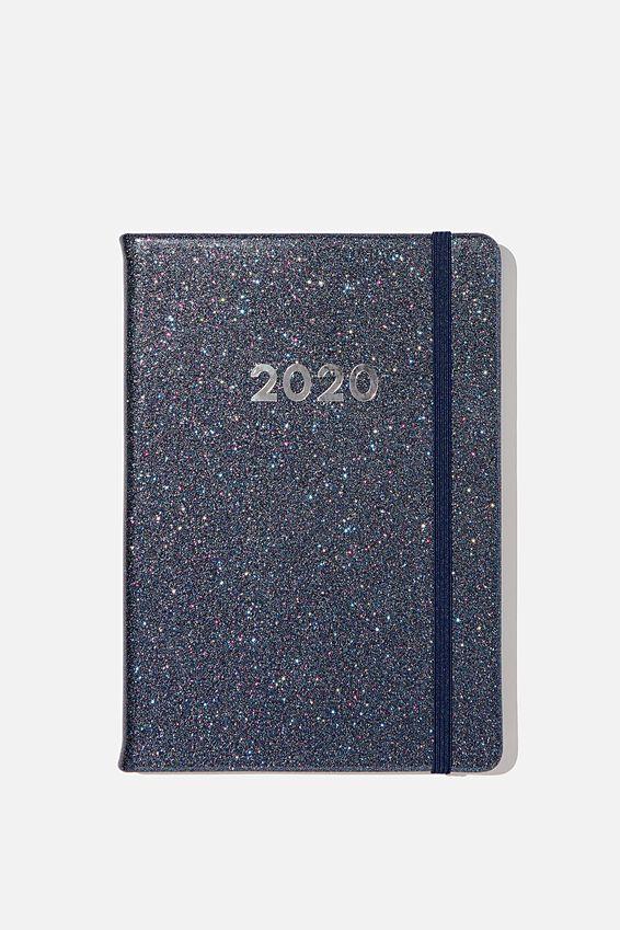 2020 A5 Weekly Buffalo Diary, MULTI GLITTER