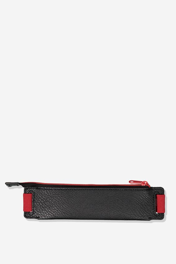 Notebook Pencil Case, BLACK AND RED