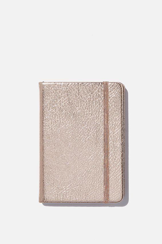 A6 Buffalo Dot Journal, ROSE GOLD