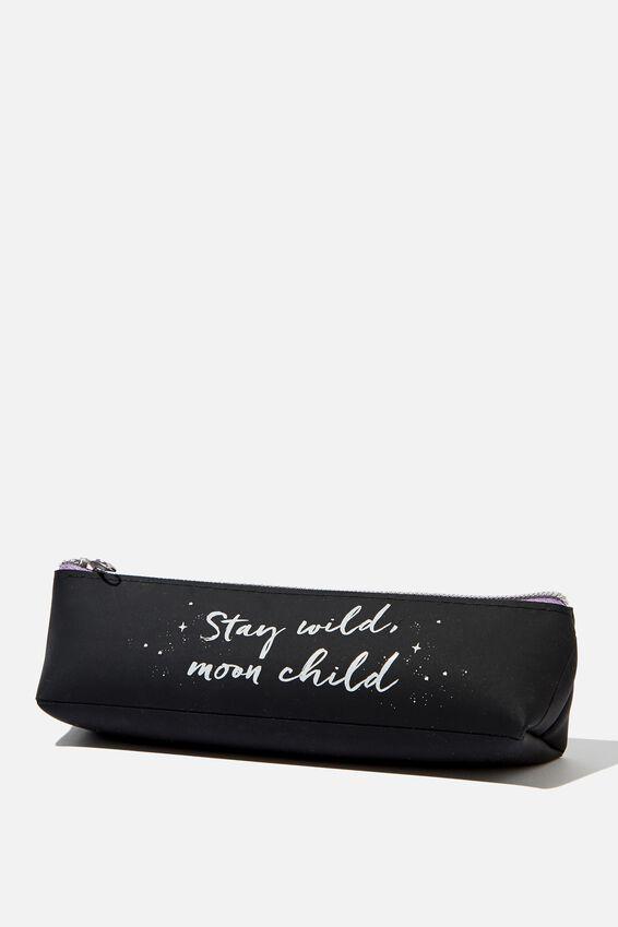 Mini Matte Pencil Case, STAY WILD MOON CHILD
