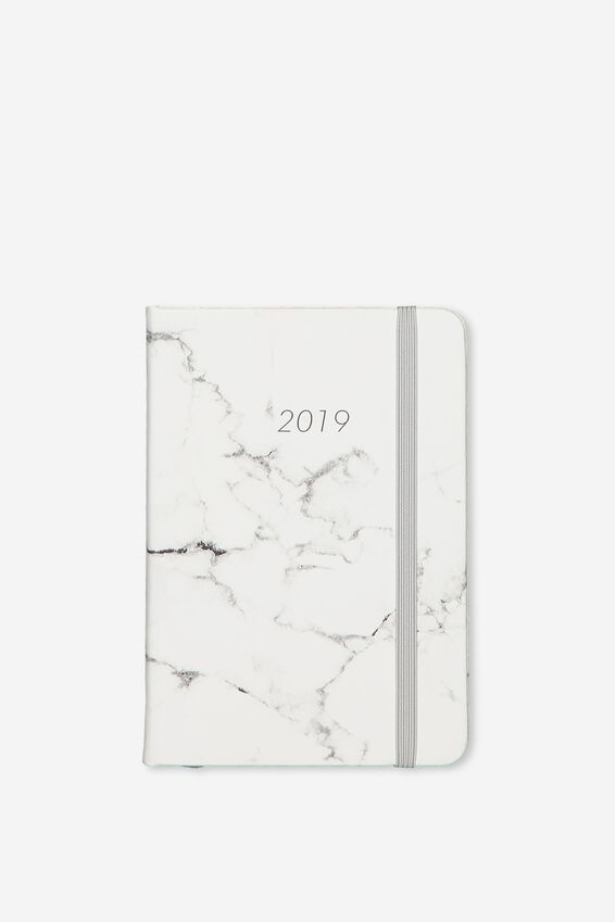 2019 A6 Small Weekly Buffalo Diary, GREY MARBLE