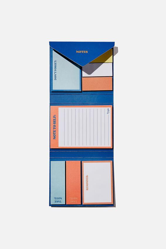 Pocket Sticky Note Set, BLUE