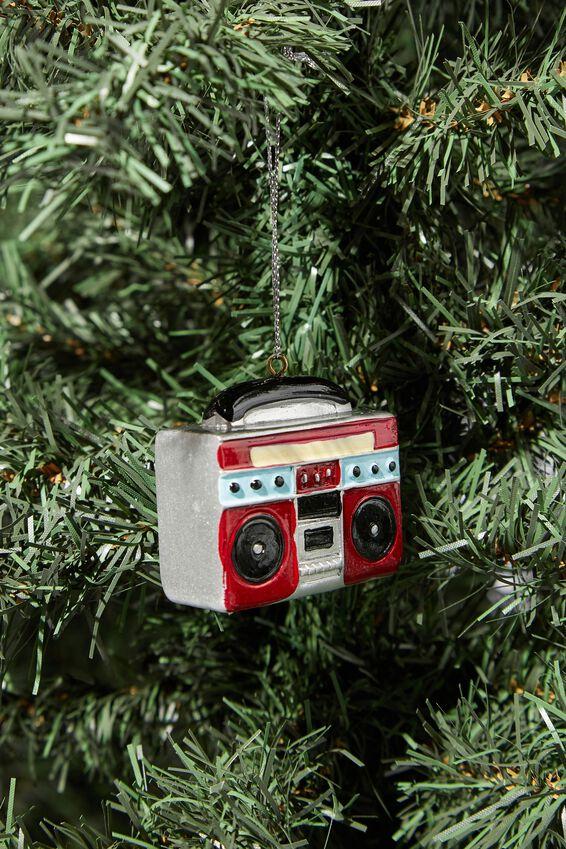 Resin Christmas Ornament, BOOM BOX