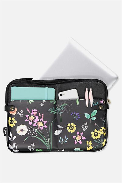 Varsity Laptop Case 13 Inch, BRIGHT FLORAL