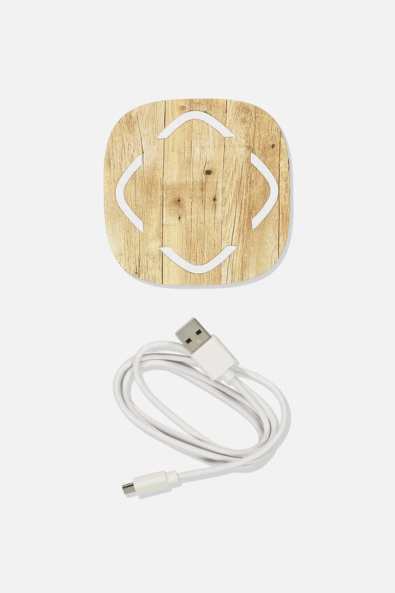 Wireless Charger, WILD WEST WOODGRAIN