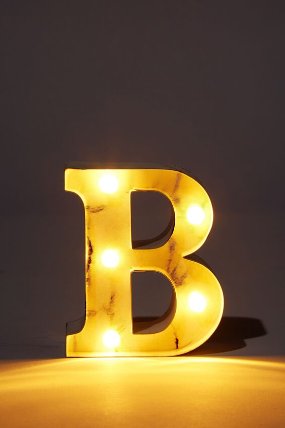 Mini Marquee Letter Lights 10cm, MARBLE B