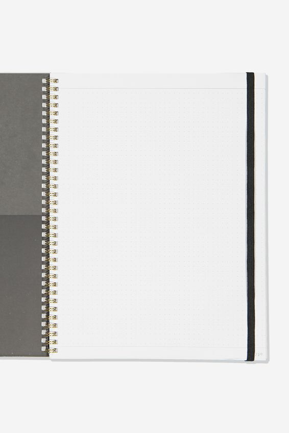 A4 Spinout Notebook Dot Page, BOHO UNICORN