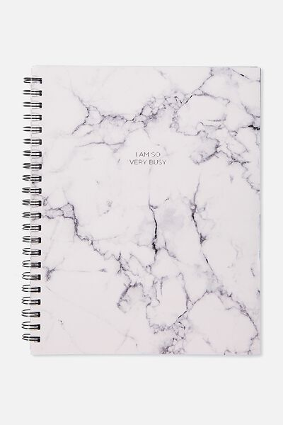 A4 Campus Notebook - 240 Pages, WHITE MARBLE