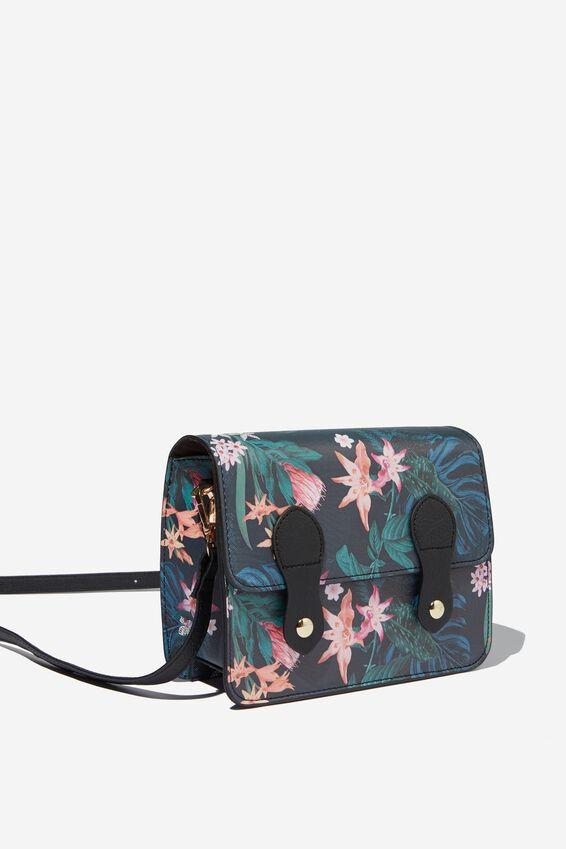 Mini Buffalo Satchel Bag, JUNGLE FLORAL