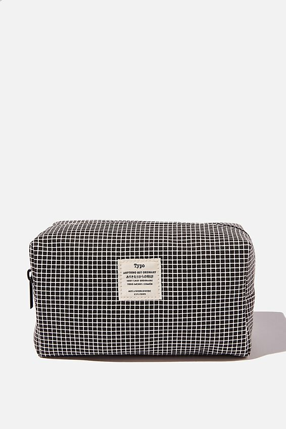 Brooklyn Pencil Case, GRID CHECK