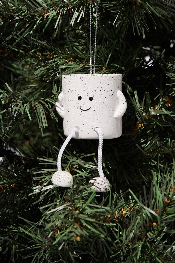 Resin Christmas Ornament, ROPE LEGS PLANTER