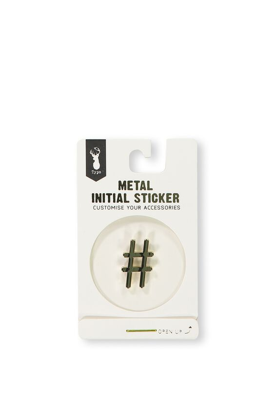 Metal Stickers, GOLD #