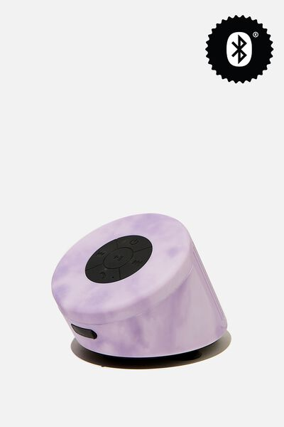 Wireless Shower Speaker, PREMIUM A.T. SPACEY TIE DYE LILAC