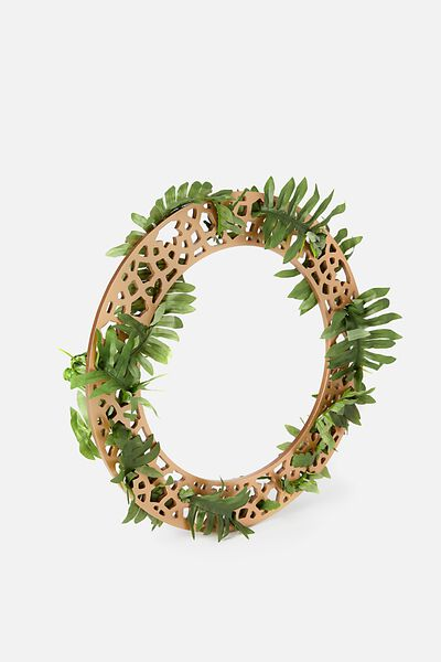 Party Wreath Small, ROUND GOLD