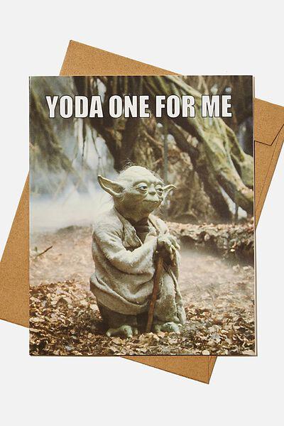 Love Card, LCN LU YODA ONE FOR ME MEME