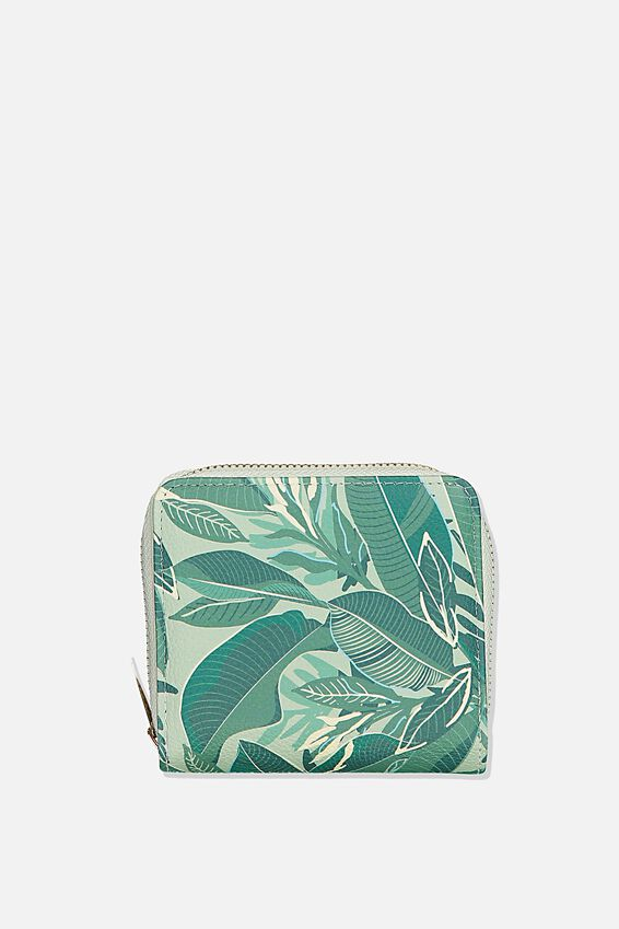 Rfid Mini Wallet, BONDI FOLIAGE