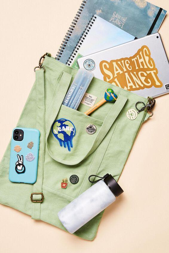 Book Tote Bag, ALLY GREEN