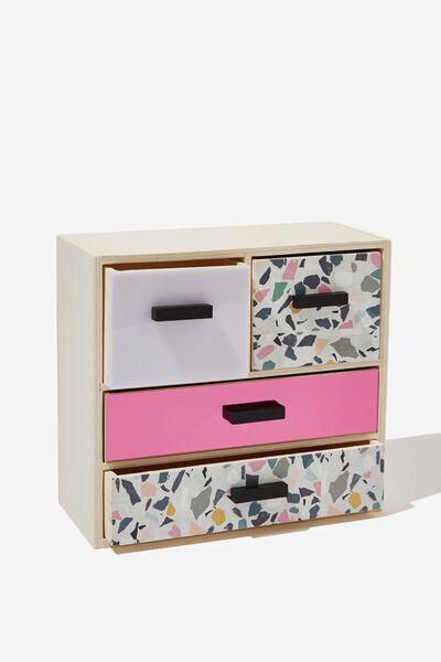 4 Drawer & Store, PINK TERRAZZO