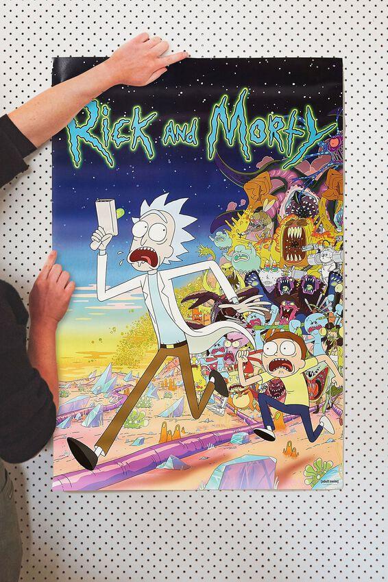Rick & Morty Poster, LCN CNW RICK & MORTY RUNNING