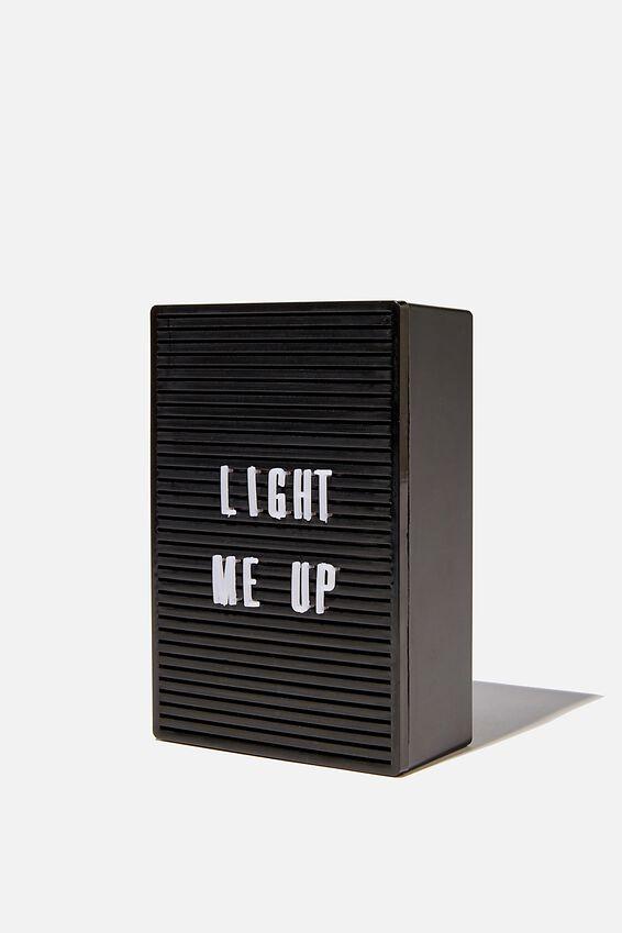 Micro Light Box, BLACK PEGBOARD