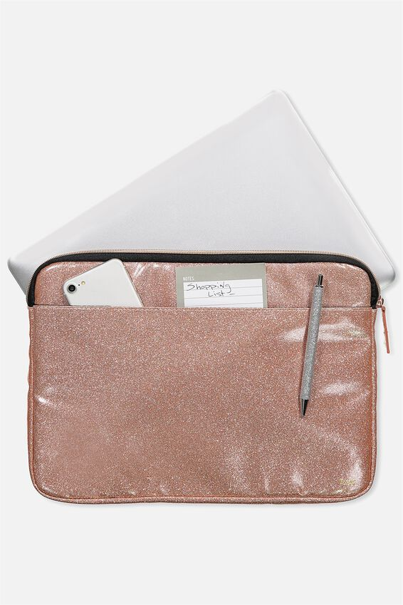 "Core Laptop Cover 13"", ROSE GOLD GLITTER"