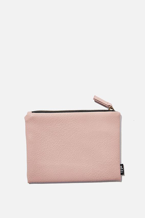 Pu Campus Pencil Case, NUDE PINK