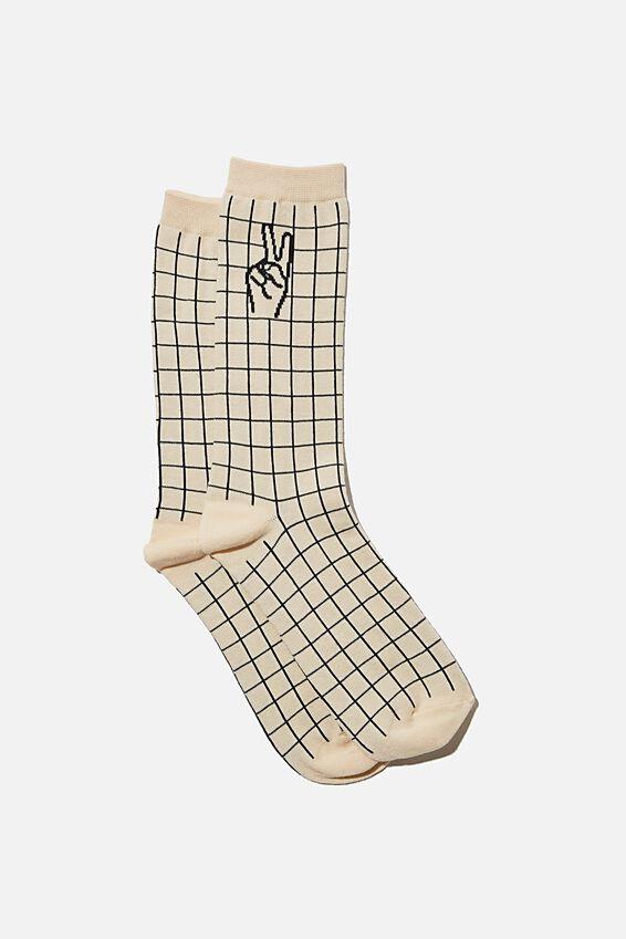 Socks, PEACE HAND STRIPE