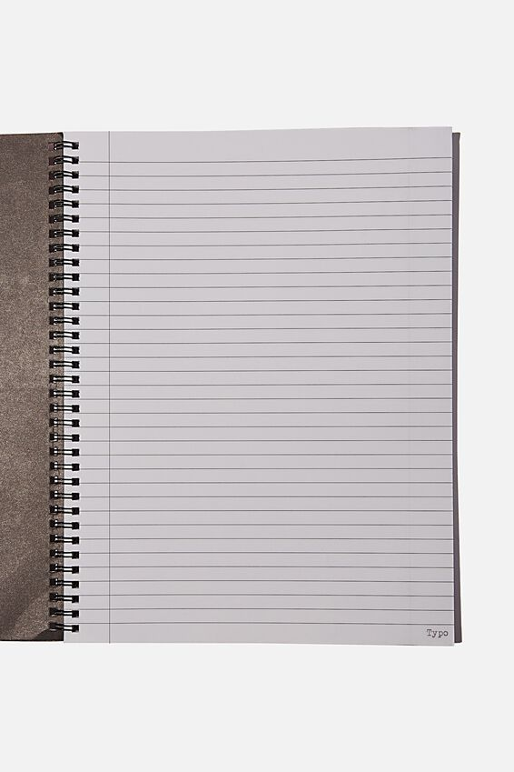 A4 Spinout Notebook Recycled, RAINBOW CHECK NOT OFFENDED