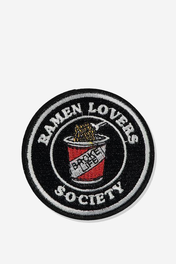 Fabric Badge, RAMEN LOVERS SOCIETY