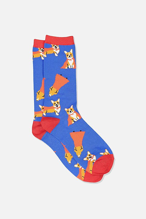 Mens Novelty Socks, CORGI CAPE