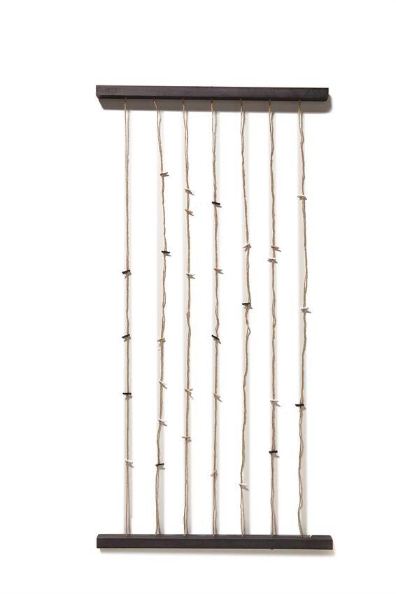 Large Hang And Peg Frame Kit, BLACK JUTE TWINE