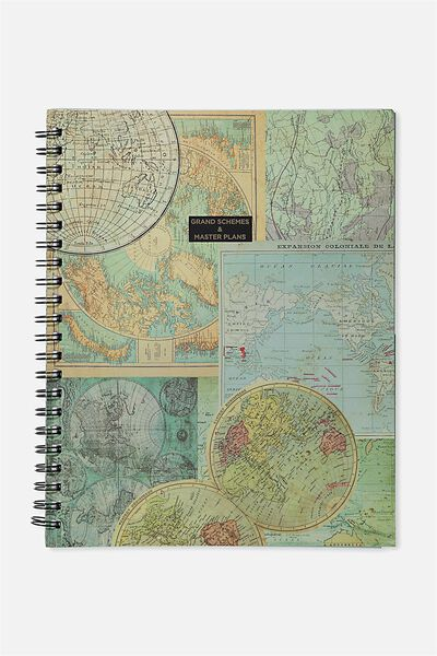 A4 Campus Notebook, MAP SCHEMES