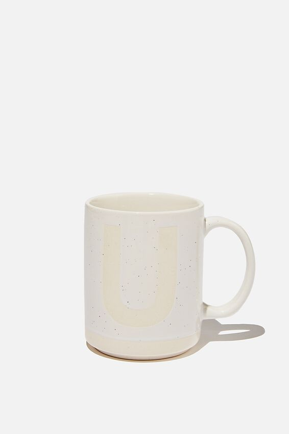 Alpha Daily Mug, CREAM SPECKLED U