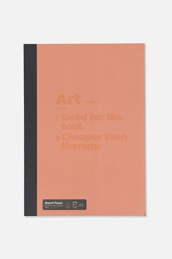 A4 Sketch Mate Book, RED CLAY ART