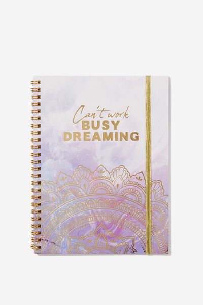 A5 Spinout Notebook - 120 Pages, BUSY DREAMING