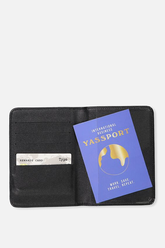Rfid Passport Holder, BLACK