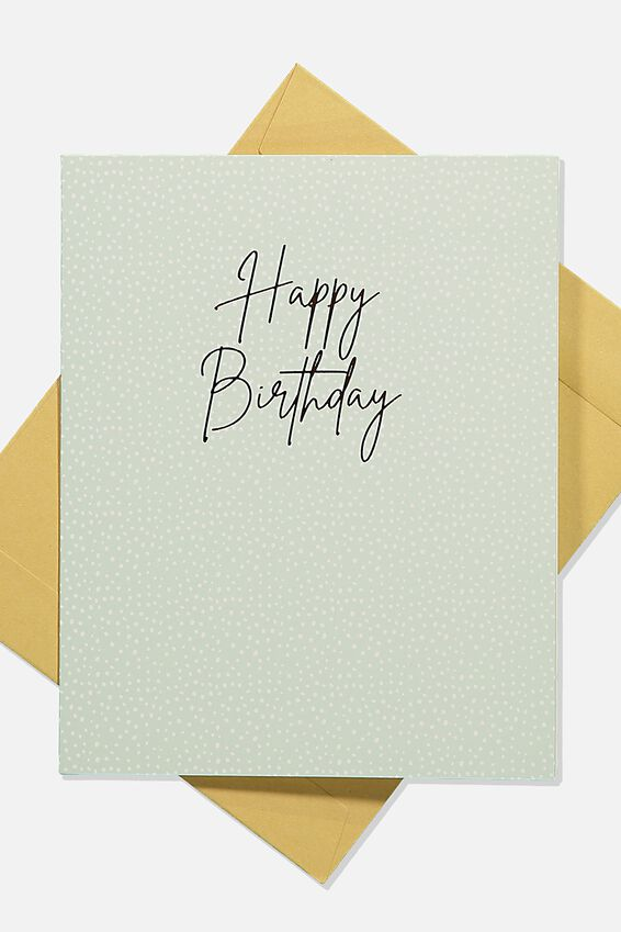 Nice Birthday Card, SPOTTY HAPPY BIRTHDAY