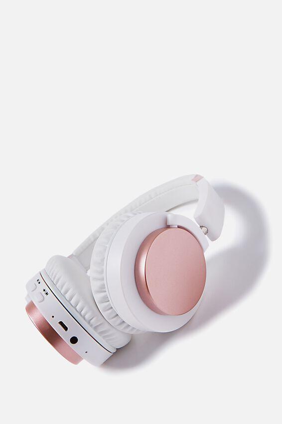 Wireless Signal Headphone, WHITE & ROSE GOLD