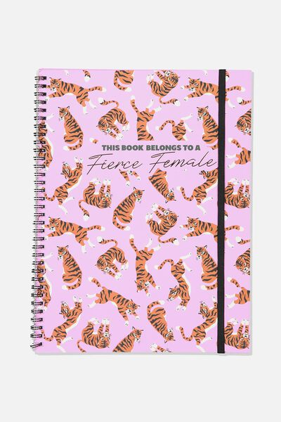 A4 Spinout Notebook - 120 Pages, FIERCE FEMALE